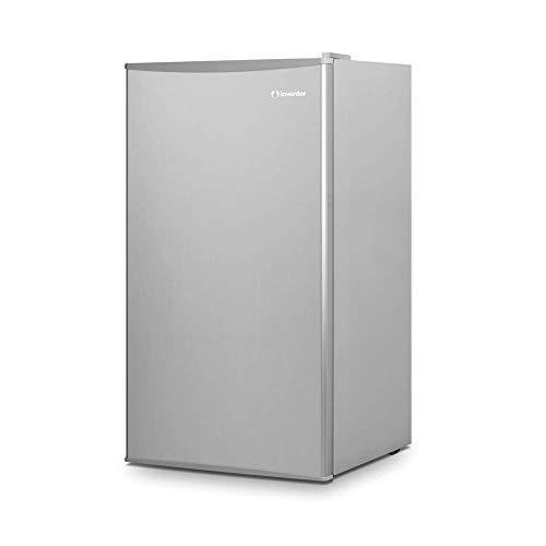 Inventor Mini Réfrigérateur A+++ avec compresseur, capacité 93 litres, silencieux et idéal pour les hôtels, les étudiants, les bureaux et les petites maisons, couleur argent.