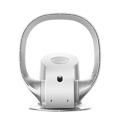 Carkiien Silent Ventilateur de bureau sans pales avec télécommande oscillante, 8 vitesses, minuterie, 26W