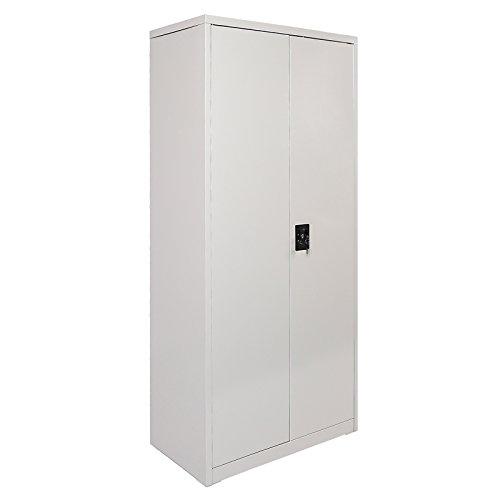 Billetterie Armoire métallique 2 portes Rangement auxiliaire Nettoyage du garde-manger Garage Mobilier de bureau