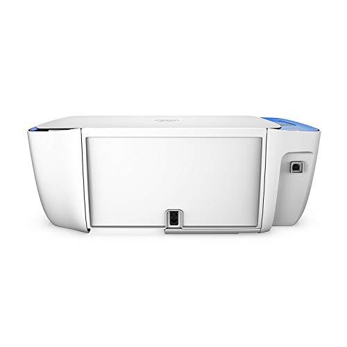 HP Deskjet 3639 - Imprimante multifonction sans fil (encre, Wi-Fi, copie, numérisation, 600 x 300 PPP, mode silencieux) couleur blanc et bleu