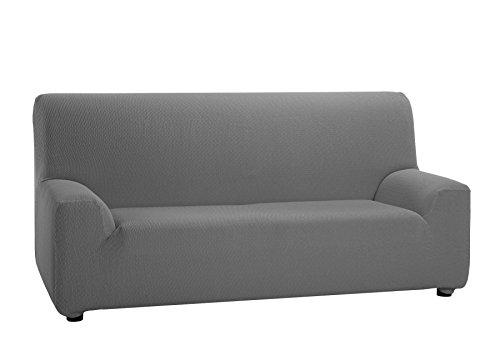 Martina Home Tunez, Housse élastique pour canapé, gris, mesures pour 3 places (180-240 cm)