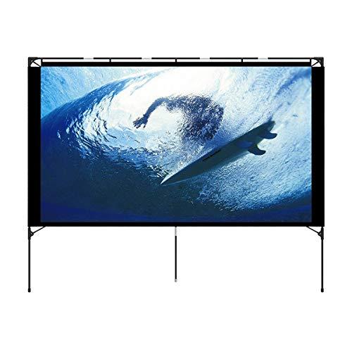 Écran de projection Vamvo HD pour l'intérieur et l'extérieur - 80 pouces - Support pliable, écran portatif - Idéal pour le cinéma maison, le camping en plein air et autres activités récréatives
