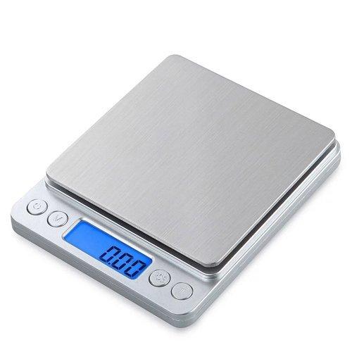Balance de cuisine numérique Balance de cuisine de précision 3Kg/0.1g Balance de cuisine multifonctionnelle en acier inoxydable Écran LCD Batterie incluse