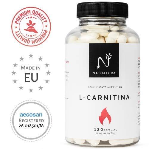 L-Carnitine. L-Carnitine supplément alimentaire. Puissant brûleur de graisse pour l'amincissement, supplément sportif à haute concentration pour améliorer les performances, l'endurance et la récupération.120 gélules.