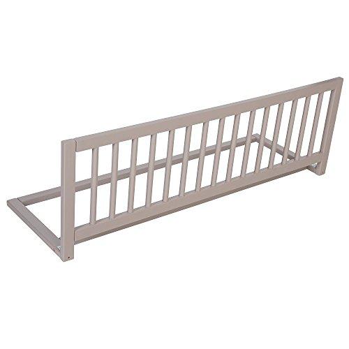 Safetots - Barrière de protection de lit, bois, couleur grise