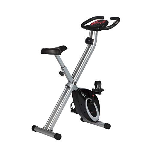Vélo d'exercice Ultrasport F-Bike, appareil électroménager, pliable avec console et capteurs de pouls au guidon, noir