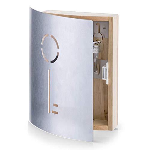 Armoire à clés Zeller 13846, bois, marron, 21,5x6x24,5 cm