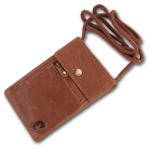 Safekeepers - Travel Document Bag Festival 100% cuir avec technologie RFID SKIMM pour iPhone 7 et Passeport