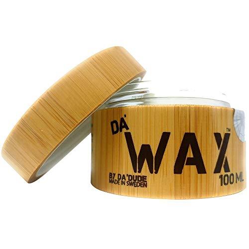 Da'Dude Da'Wax Cire à cheveux pour hommes - Cire coiffante très résistante - Fini mat - Avis, tarifs 2020 produit coiffant professionnel - Cuve en bois et boîte cadeau 100 ml