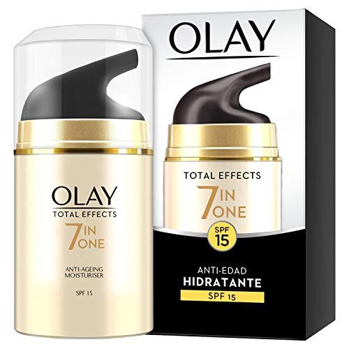 Hydratant de jour anti-âge FPS 15 de Olay Total Effects 7en1 50 ml, combat les 7 signes de l'âge