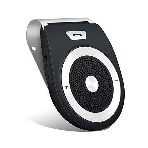 Aigoss Bluetooth Handsfree 4.1 Car Kit, réduction de l'écho et du bruit de fond pour visière Supporte GPS, universel, musique, haut-parleur sans fil pour téléphones portables, connecter deux téléphones