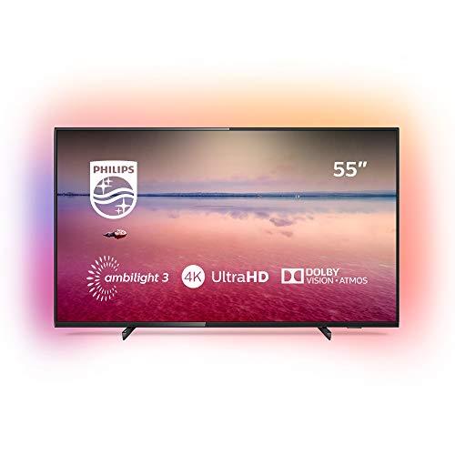 Philips 55PUS6704/12 - Smart TV LED 4K UHD, 55 pouces, résolution d'écran 3840 x 2160, format 16:9, noir brillant
