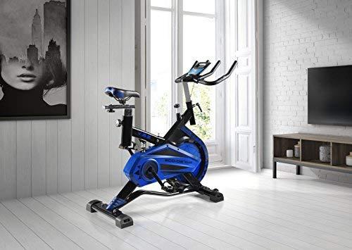 ECO-DE Requin-spin tournant pour vélo. Utilisation semi-professionnelle avec moniteur de fréquence cardiaque, écran LCD et résistance variable. Stabilisateurs. Entièrement ajustable.20kgrs Roue à inertie