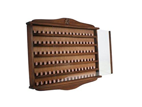 CAL FUSTER - Porte dé à coudre en bois 102 unités couleur noyer. Dimensions : 46x56x5 cm.