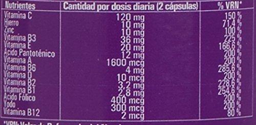 Complexe vitaminé aux minéraux, vitamine C, vitamines B2, B3, B5, B6 et B12 et fer - Multivitamines pour combattre la fatigue, la fatigue et augmenter le bien-être de votre corps (90 capsules)