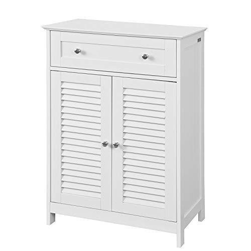 c010c7d64 SoBuy FRG238-W, ES Mueble Auxiliar para baño, Armario de almacenaje Organizador  para