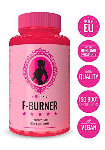 Slim Girlz Fat-Burner|60 Fat Capsules|Women's Fat Fat Burner|10 ingrédients actifs pour la perte de poids| Vegan Slimming Diet Keto sans stimulants | Fait dans l'UE