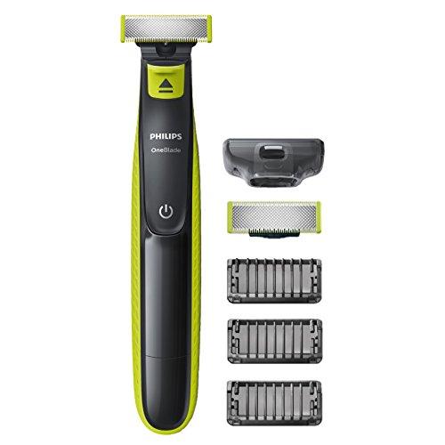 Philips OneBlade QP2520/30 - Tondeuse à barbe avec 3 peignes de 1,3,5mm de longueur, avec lame, garniture, profil et rasage supplémentaires, rechargeable