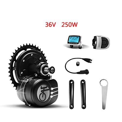 Moteur électrique de bicyclette Tongsheng 36V 250W VLCD5 TSDZ2 Kit moteur central E-Bike Mid Drive Engine (Hybrid Waterproof Gimbing Gun 25 km/h 80N.m)