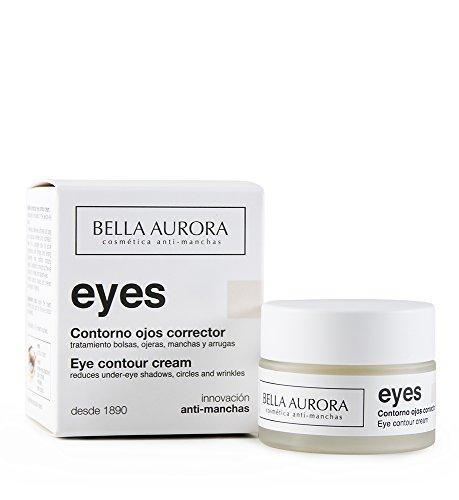 Bella Aurora Correcteur du Contour des Yeux pour les femmes Traitement pour réduire les poches, les cernes et les taches sombres, 15 ml