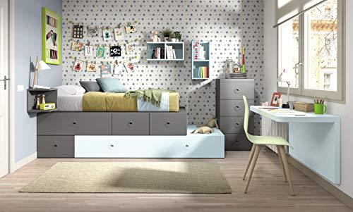 ambiato chambre enfant Vita 09 bureau, lit avec lit d'appoint, étagère Système pour chambre enfant