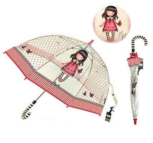 Parapluie Gorjuss Transparent Adulte 65cm Long'Time To Fly' Parapluie Classique, 80 cm