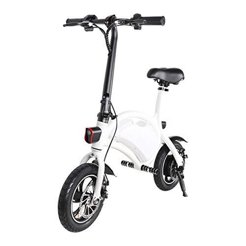 Windgoo Vélo électrique pliable 12' roues, 4400-36v batterie au lithium, Ebike pour adultes (blanc)