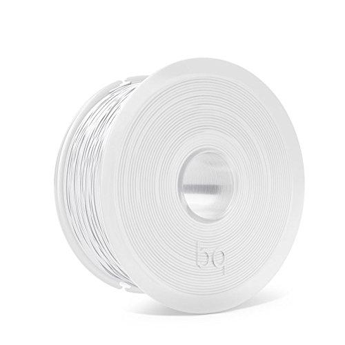 BQ Easy Go - Filament PLA de 1,75 mm (100% PLA, résistant à l'acétone, durcissement rapide) couleur blanc pur