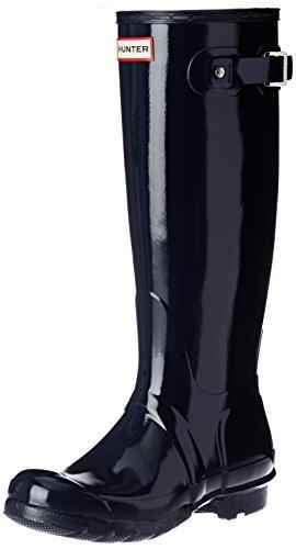 Hunters Original Tall Gloss WFT1000, Bottes hautes pour femmes, bleu, 38 EU