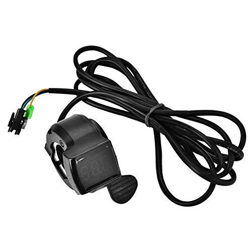 Dilwe E-Bike Accelerator, Vespa Thumb Accelerator avec 4 câbles 12V - 99V pour moto électrique Vespa Moto Vespa