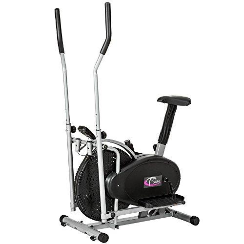 TecTake 1 vélo elliptique vélo fitness machine gymnastique statique gymnastique cardio gymnastique entraîneur avec écran LCD
