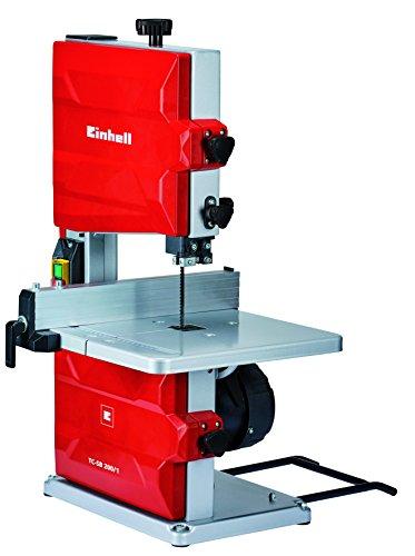 Scie à ruban Einhell TC-SB 200/1 (puissance 250 W, ralenti 1.400 1, vitesse de lame 900 m/min, 6 dents) (réf. 4308018)