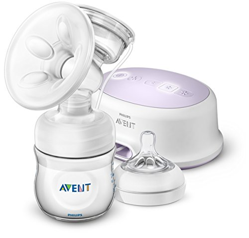 Philips Avent SCF332/31 - Tire-lait, tire-lait électrique silencieux avec coussin de massage, bouteille incluse