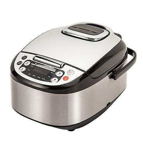 Robot de cuisine multifonctions avec voix, programmable 24 heures, capacité de 5 litres (10 couverts). 4 menus préréglés, 8 programmes automatiques et réchauffement max. de l'ambiance 180ºC