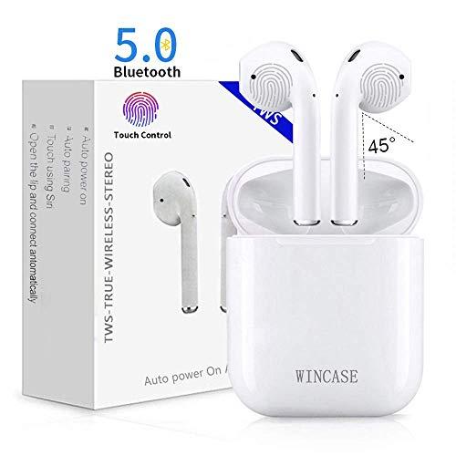 Casque d'écoute Bluetooth sans fil Bluetooth dans les écouteurs, Double Ear Canal Call Technology, avec microphone et boîte de chargement, écouteurs compatibles avec iOS et Android Smartphones et tablettes i17