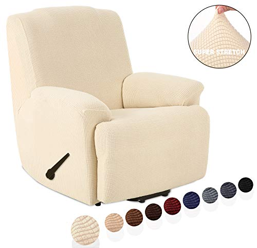 Housse de fauteuil TIANSHU Relax Housse de fauteuil Polyester Jacquard et Elastane Housses de canapé souples duraderas(Sillón Relax,Marfil Relax,Marfil )