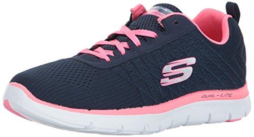 Skechers Flex Appeal 2.0 Break Free, Chaussures de course pour femmes, 36 EU, Bleu (Nvhp)