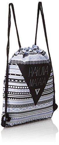 Loomiloo HMA - Sac à dos avec poignées en corde, style hipster au design aztèque et texte Hakuna Matata