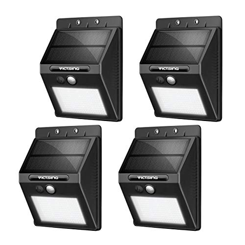 VicTsing Luminaire solaire LED/ Spot LED avec détecteur de mouvement 400lm 20 LEDs 4 Packs