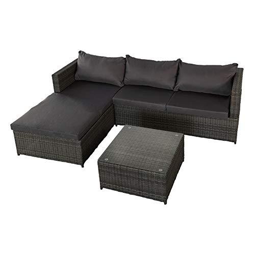AKTIVE 61007 Chaise d'angle Canapé long et table de jardin
