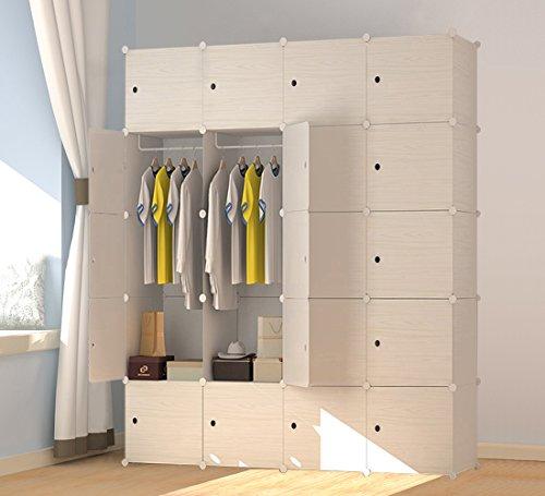 PREMAG Armoire portative en bois à motifs, armoire combinée, armoire modulaire, armoire modulaire peu encombrante, organiseur de rangement idéal pour livres, jouets, serviettes (20 neufs)