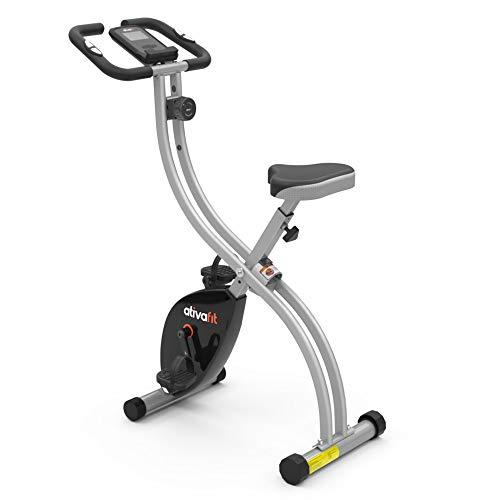 ATIVAFIT Vélo d'exercice pliable magnétique pour vélo X-Bike Moniteur de fréquence cardiaque Y Écran ACL, résistance variable, pédales à prise maximale, adultes unisexes