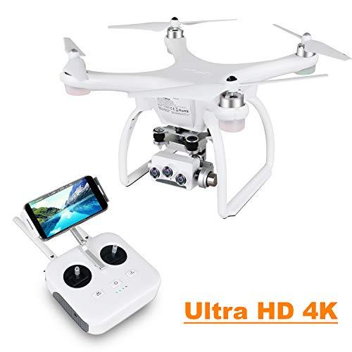 UPAIR Two Drone avec caméra 3D4K 2.4G Télécommande FPV Quadcopter RC Live Broadcast avec contrôle iOS App, mode Follow Me, mode sans tête, démarrage