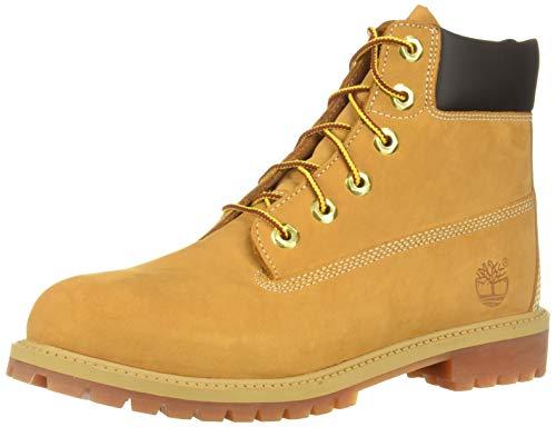 Timberland Premium WP 6 pouces, bottes unisexes pour garçons, jaune (nubuck de blé), 37 EU