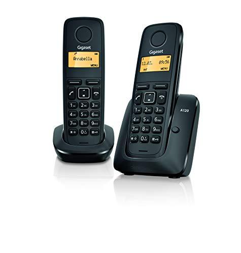 Gigaset A120 Duo Téléphone sans fil, répertoire de 50 contacts.