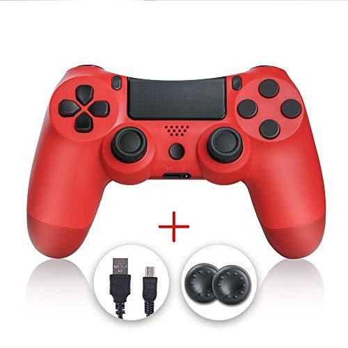 Zcity manettes PS4, manette PS4, manette sans fil Gamepad manette compatible avec Playstation 4 (rouge)