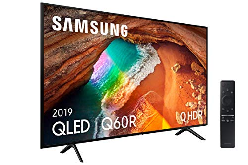 Samsung QLED 4K 2019 75Q60R - 75' Smart TV avec résolution 4K UHD, Supreme Ultra Dimming, Q HDR, 4K Intelligence Artificielle, une télécommande, applications exclusives et compatibles Alexa