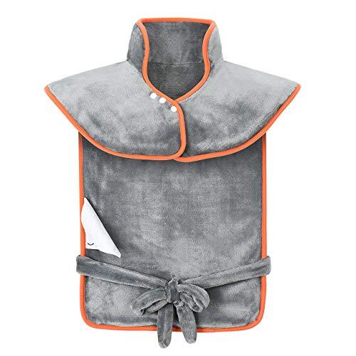 Couverture électrique cervicale OMORC, Couverture électrique lombaire 85x65cm, 120W Quick Warm, 3 niveaux, Couverture électrique lavable à l'arrière du cou, soulagement de la douleur, surchauffe et arrêt automatique