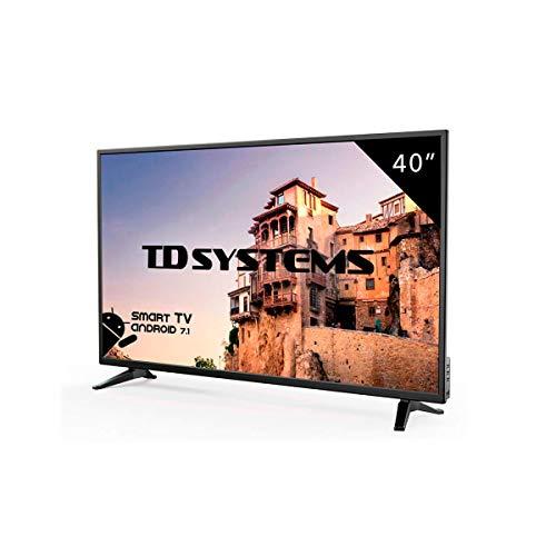 Téléviseur à DEL intelligente Full HD de 40 pouces, TD Systems K40DLM8FS. Résolution 1920 x 1080, 3X HDMI, VGA, 2X USB, Smart TV.