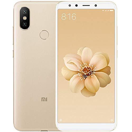 Xiaomi MI A2 - Smartphone 5,9' (Qualcomm Snapdragon 660 à 2,2 GHz, 4 Go de RAM, 64 Go de mémoire, double caméra 12/20 MP, Android) Gold (version anglaise)